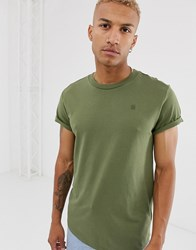 G Star Shelo Relaxed Fit T Shirt In Khaki Green
