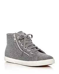 Superga Polywoolw Double Zip High Top Sneakers Gray