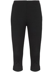 Maryam Nassir Zadeh High Waisted Cropped Cotton Blend Pedal Pushers Black