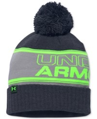 Under Armour Men's Pom Pom Beanie Artillery Green Black Steel