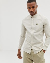 Lyle And Scott Slim Fit Gingham Shirt In Stone
