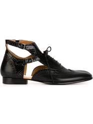 Maison Martin Margiela Maison Margiela Ankle Strap Oxford Shoes Black