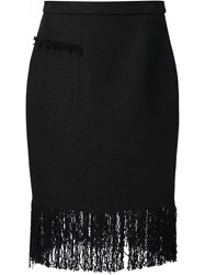 Adam By Adam Lippes Adam Lippes Fringed Pencil Skirt Black