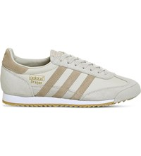 Adidas Dragon Vintage Suede And Mesh Trainers Clear Brown Clay Gum