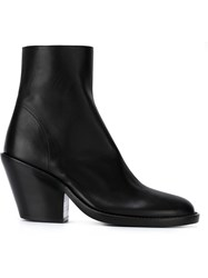 Ann Demeulemeester Blanche Chunky Heel Ankle Boots Black