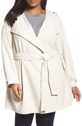 Bernardo Plus Size Women's Breathable Microfiber Trench Coat