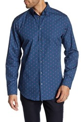 14Th And Union Alpha Trim Fit Shirt Blue