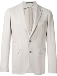 Tagliatore Notched Lapel Blazer Nude And Neutrals