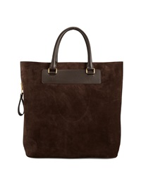 Tom Ford Suede Side Zip Tote Bag