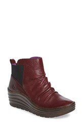 Bionica Women's 'Gilford' Wedge Bootie Russet Red Leather