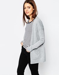 Asos Oversized Cardigan In Fine Knit Grey