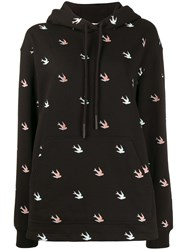 Mcq By Alexander Mcqueen All Over Swallow Hoodie Black