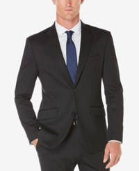 Perry Ellis Men's Slim Fit Heathered Jacket Charcoal