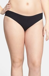 Plus Size Women's Nordstrom Cotton Blend Bikini Black