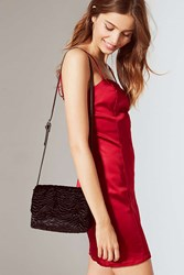 Urban Outfitters Textured Faux Fur Crossbody Bag Black