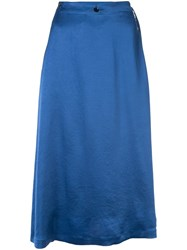 08Sircus Satin Skirt Blue