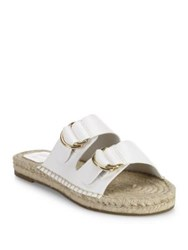Joie Cagney Leather Espadrille Slides Latte Cuoio