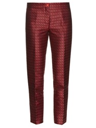 Etro Jacquard Capri Trousers Red Multi