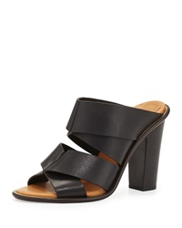 See By Chloe Ellen Origami Leather Slide Black