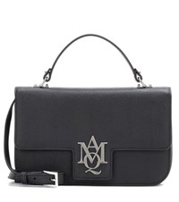 Alexander Mcqueen Insignia Leather Satchel Black