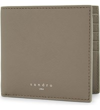 Sandro Leather Wallet Taupe