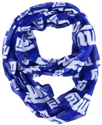 Forever Collectibles New York Giants All Over Logo Infinity Wrap Scarf Royalblue