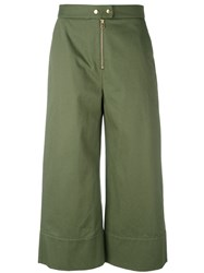 Alexander Wang T By Cropped Trousers Green