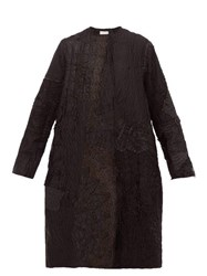 By Walid Tanita 19Th Century Floral Embroidered Silk Coat Black