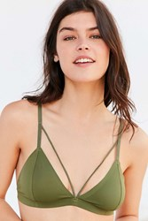 Out From Under Rowan Fusion Strappy Bralette Dark Green