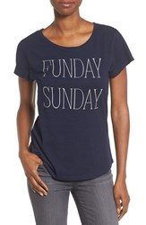 Signorelli Women's 'Love The Wine You're With' Short Sleeve Tee Navy