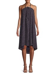 Lucca Couture Lila Dotted Halter Dress Navy Multi