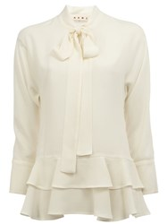 Marni Pussy Bow Blouse White