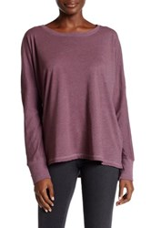 Allen Allen Drop Shoulder Tee Purple