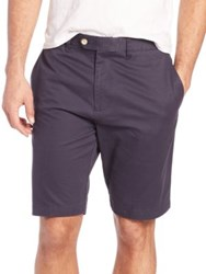 Saks Fifth Avenue Solid Cotton Shorts Navy