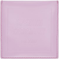 Opening Ceremony Pink Leather Square Cardholder