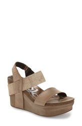 Women's Otbt 'Bushnell' Wedge Sandal New Bronze Leather