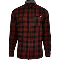 Jack And Jones River Island Mens Red Vintage Casual Check Shirt