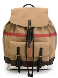 Burberry 'Nova Check' Backpack Brown