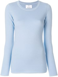 Allude Fitted Knit Top Blue