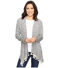 Rock And Roll Cowgirl Long Sleeve Cardigan 46 9594 Grey Women's Sweater Gray