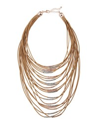 Fragments For Neiman Marcus Multi Strand Cord Statement Necklace Brown