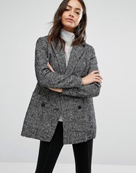 New Look Wool Fleck Jacket Black Pattern