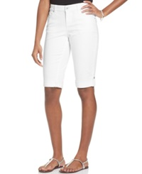 Style And Co. Curvy Fit Denim Bermuda Shorts