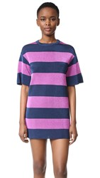 M Missoni Metallic Stripe Shift Dress Ink