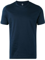 Eleventy Classic Crewneck T Shirt Men Cotton Xxl Blue