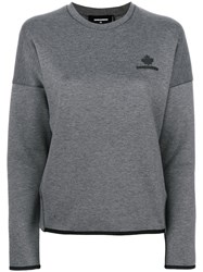 Dsquared2 Knitted Sweater Women Cotton Polyester Xs Grey