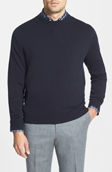 Nordstrom Cotton And Cashmere Crewneck Sweater Jet Black