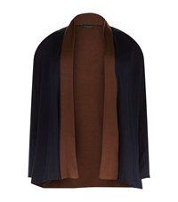 Marina Rinaldi Shawl Collar Colour Block Cardigan Female Black