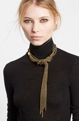Women's Lanvin Tight Knot Brass Necklace