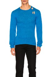 Enfants Riches Deprimes Hand Knit Sweater In Blue